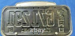 Vintage Western Motors California Metal Automobile 1951 Trl License Plate Frame