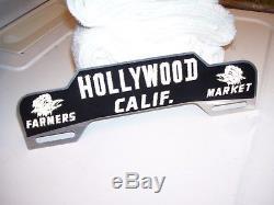 Vintage original 1948 1949 Hollywood California license plate topper sign 1939