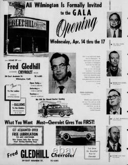 Wilmington California Fred Gledhill Chevrolet Vintage Dealer License Plate Frame
