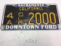 -vintage1963forddealersacamento California License Plate & Frame4a Dlr 2000